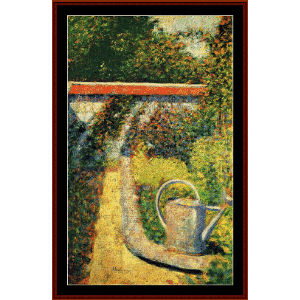 The Watering Can, 1883 - Seurat cross stitch pattern by Cross Stitch Collectibles | Crafting | Cross-Stitch | Wall Hangings