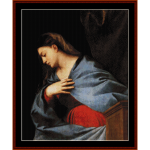 The Resurrection Virgin, 1522 - Titian cross stitch pattern by Cross Stitch Collectibles | Crafting | Cross-Stitch | Wall Hangings