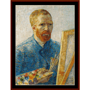 Self Portrait with Easel - Van Gogh cross stitch pattern by Cross Stitch Collectibles | Crafting | Cross-Stitch | Wall Hangings