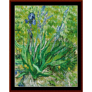 Iris, 1890 - Van Gogh cross stitch pattern by Cross Stitch Collectibles | Crafting | Cross-Stitch | Wall Hangings
