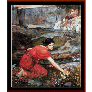 Maidens Picking Flowers - Waterhouse cross stitch pattern by Cross Stitch Collectibles | Crafting | Cross-Stitch | Wall Hangings