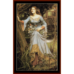 Ophelia, 1910 - Waterhouse cross stitch pattern by Cross Stitch Collectibles | Crafting | Cross-Stitch | Wall Hangings