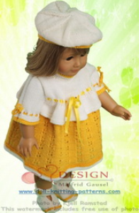 DollKnittingPattern 0125D TORA - Dress, Cap, Pants and Shoes-(English) | Crafting | Knitting | Baby and Child