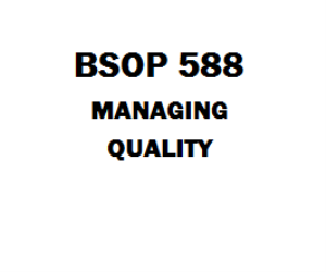 BSOP 588 Managing Quality Entire Course Week 1 to 8 | eBooks | Education