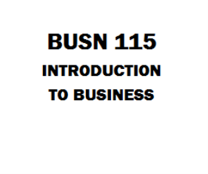 BUSN 115 Introduction to Business Entire Course Week 1 to 8 | eBooks | Education