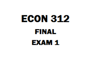 ECON 312 Final Exam 1 | eBooks | Education