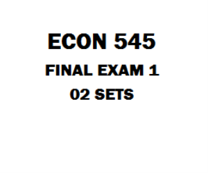 econ 545 final exam answers Read this essay on econ 545 final exam answers come browse our large digital warehouse of free sample essays get the knowledge you need in order to pass your classes and more.
