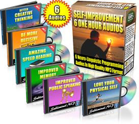 Subliminal NLP Audios 6-Pack Self Improvement Resell | Audio Books | Self-help