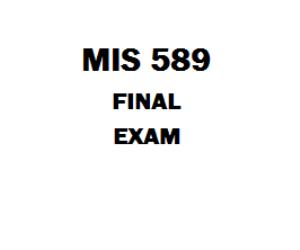 MIS 589 Final Exam | eBooks | Education
