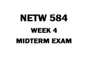 NETW 584 Midterm Exam | eBooks | Education