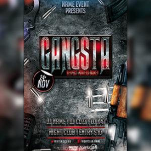 gangsta r.p.m (flyer concept psd)