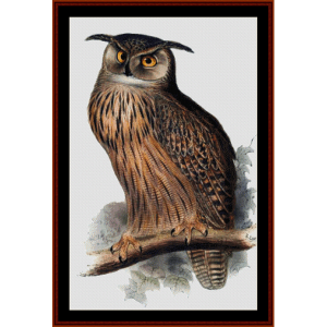 Great Horned Owl - Wildlife cross stitch pattern by Cross Stitch Collectibles | Crafting | Cross-Stitch | Wall Hangings