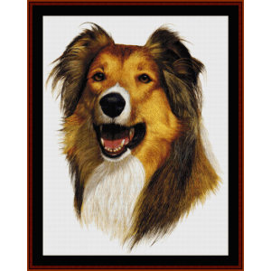 rough collie - robert j. may cross stitch pattern by cross stitch collectibles
