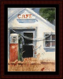Gas Pump - SuzyPal cross stitch pattern by Cross Stitch Collectibles | Crafting | Cross-Stitch | Wall Hangings