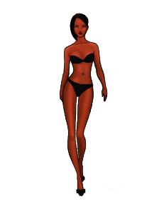 template model, brown girl short hair