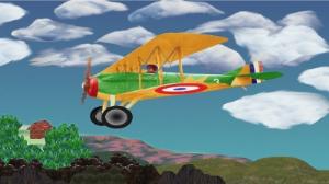 spad plane 1280x720 background