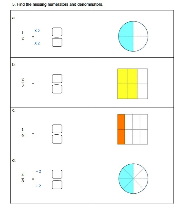Third Additional product image for - Equivalent Fractions, 3rd Grade, 4th Grade