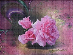 Ruze (Roses) | Crafting | Cross-Stitch | Other