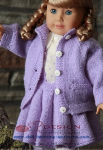 DollKnittingPattern 0011D LILLY - Blouse, Skirt, Pants, Coat and Hat-(English) | Crafting | Knitting | Baby and Child