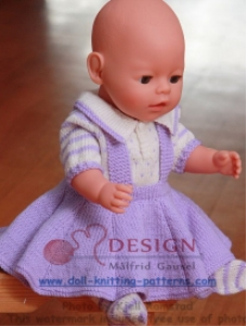 DollKnittingPatterns -  0011D LILLY - Bluse, Rock, Strumpfhose, Jacke und Mütze-(Deutsch) | Crafting | Knitting | Baby and Child
