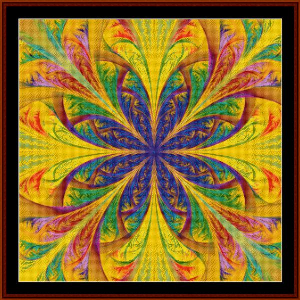fractal 496 cross stitch pattern by cross stitch collectibles