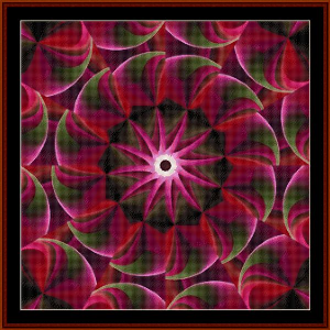 Fractal 498 cross stitch pattern by Cross Stitch Collectibles | Crafting | Cross-Stitch | Wall Hangings