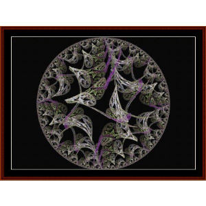 Fractal 499 cross stitch pattern by Cross Stitch Collectibls | Crafting | Cross-Stitch | Wall Hangings
