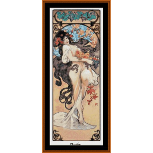 Amethyst Post - Mucha cross stitch pattern by Cross Stitch Collectibles | Crafting | Cross-Stitch | Wall Hangings