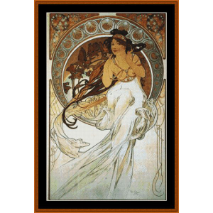 Poetry - Mucha cross stitch pattern by Cross Stitch Collectibles | Crafting | Cross-Stitch | Wall Hangings