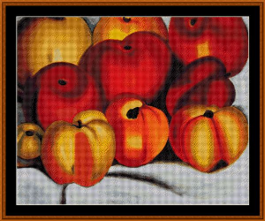 apple family - o'keeffe cross stitch pattern by cross stitch collectibles