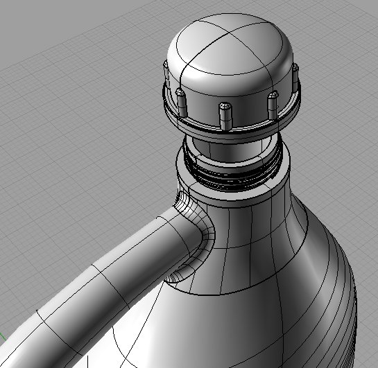 First Additional product image for - Bottle 3D Model
