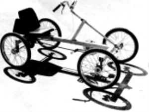 A Modern Touring 4 Wheel Bike 2007 Model Rhoades Car 4w2pcp Coupe Two Seater