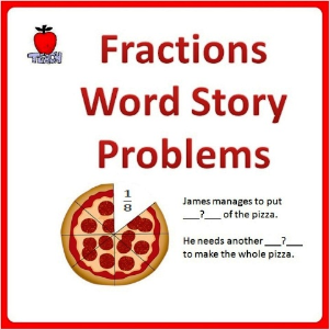 Fractions Word Problems - 4th Grade, 5th Grade | eBooks | Education
