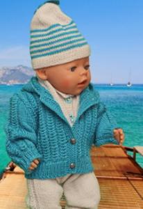 DollKnittingPattern 0126D VANESSA - Veste, Bonnet, Écharpe, Chaussettes et Combinaison-(Francais) | Crafting | Knitting | Other