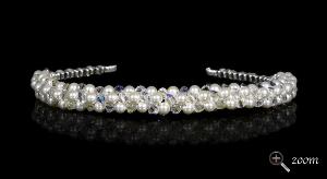tiara tutorial pattern instant download pdf chunky pearl and crystal wedding headband