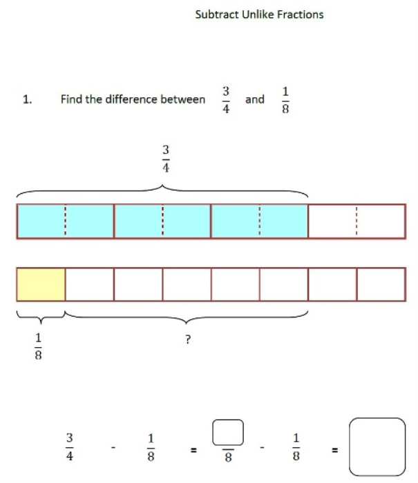 Second Additional product image for - Subtracting Fractions 4th Grade 5th Grade