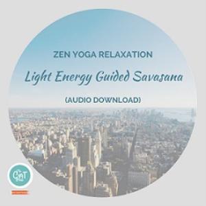 zen yoga relaxation: light energy guided savasana