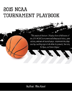2015 NCAA Tournament Playbook | eBooks | Sports