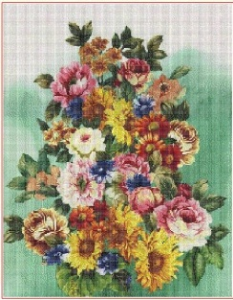 Letni kytice (The summer bouquet) | Crafting | Cross-Stitch | Wall Hangings