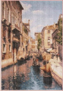Benatky (Venice) 2 | Crafting | Cross-Stitch | Wall Hangings