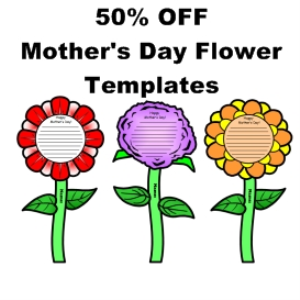 50% Off Mother's Day Flower Templates | Documents and Forms | Templates