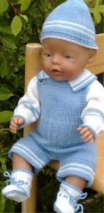 DollKnittingPatterns -  0002D TIMMY- Pullover, Hose, Mütze und Socken -(Deutsch) | Crafting | Knitting | Baby and Child