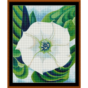 jimson weed - o'keeffe cross stitch pattern by cross stitch collectibles