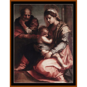 Holy Family Barberini - Del Sarto cross stitch pattern by Cross Stitch Collectibles | Crafting | Cross-Stitch | Wall Hangings