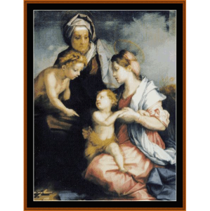 Madonna & Child with St. Elizabeth - Del Sarto cross stitch pattern by Cross Stitch Collectibles | Crafting | Cross-Stitch | Wall Hangings