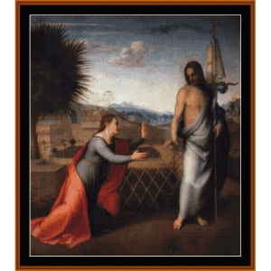 Noli Me Tangere - Del Sarto cross stitch pattern by Cross Stitch Collectibles | Crafting | Cross-Stitch | Wall Hangings