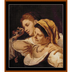 During Carnival, 1872 - Cassatt cross stitch pattern by Cross Stitch Collectibles | Crafting | Cross-Stitch | Wall Hangings