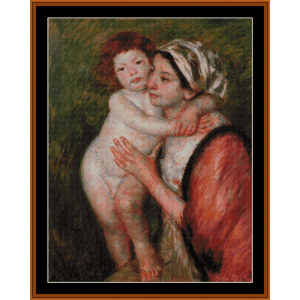 Mother and Child, 1914 - Cassatt cross stitch pattern by Cross Stitch Collectibles | Crafting | Cross-Stitch | Wall Hangings