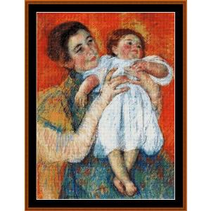 The Barefoot Child, 1897 - Cassatt cross stitch pattern by Cross Stitch Collectibles | Crafting | Cross-Stitch | Wall Hangings