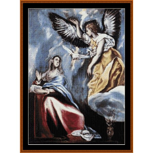 The Annunciation - El Greco cross stitch pattern by Cross Stitch Collectibles | Crafting | Cross-Stitch | Religious